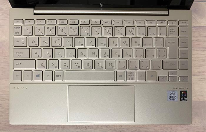 HP-ENVY-13baのキーボード