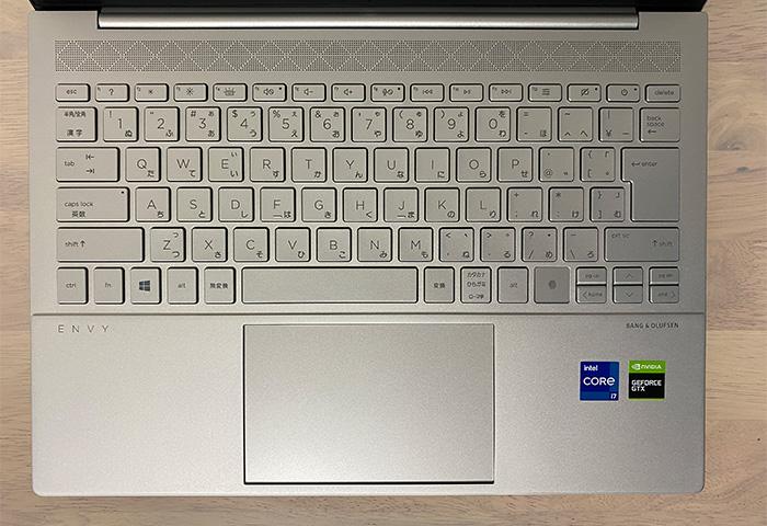 HP ENVY 14-ebのキーボード