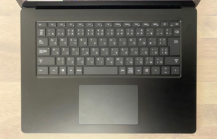 Surface_laptop4_15ryzenのタイピング