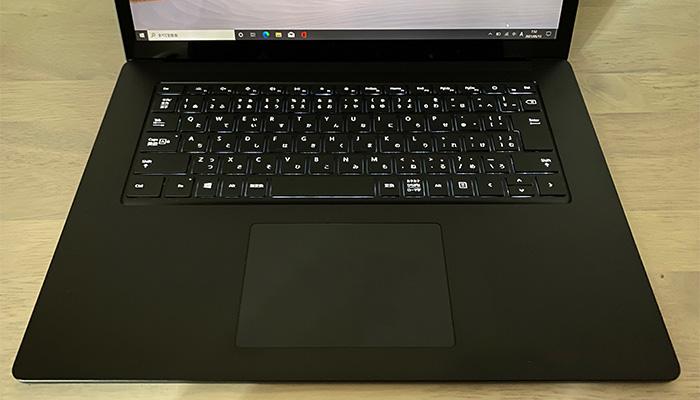 Surface_laptop4_15ryzenのバックライト