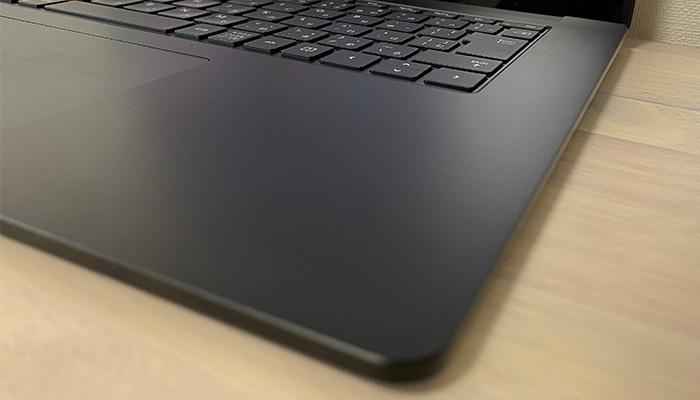 Surface_laptop4_15ryzenのパームレスト