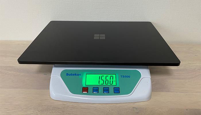 Surface_laptop4_15ryzenの重量
