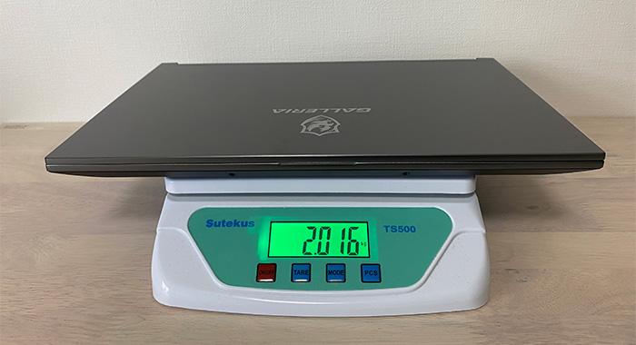 galleria-xl7c-r36の重量