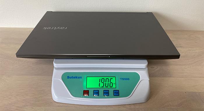 ドスパラ raytrek G5-Rの本体重量