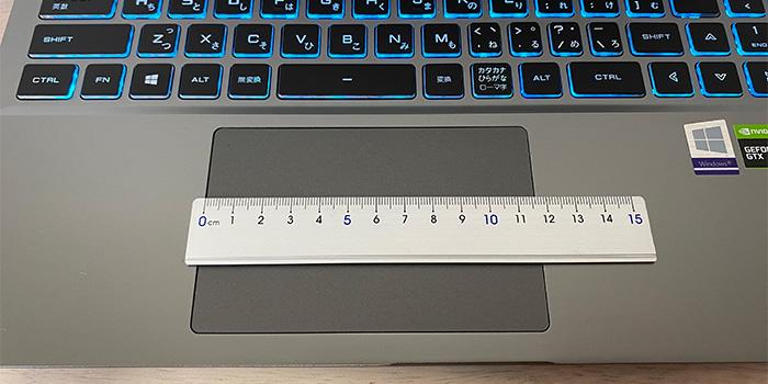 ドスパラ raytrek G5-Rのタッチパッド