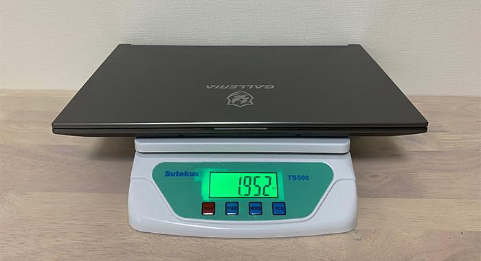 RL5R-G50Tの本体重量