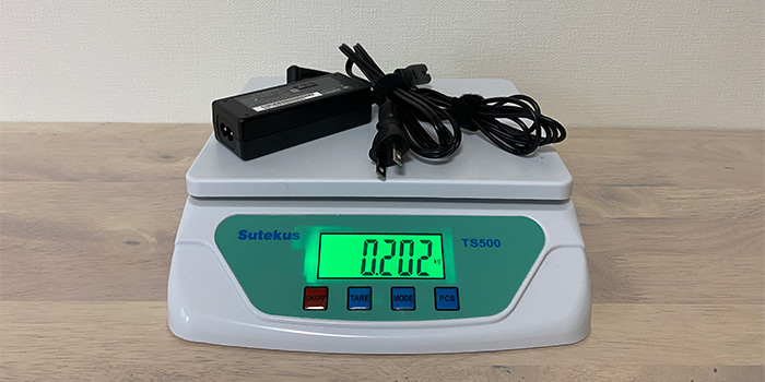 mouse C4のAC重量
