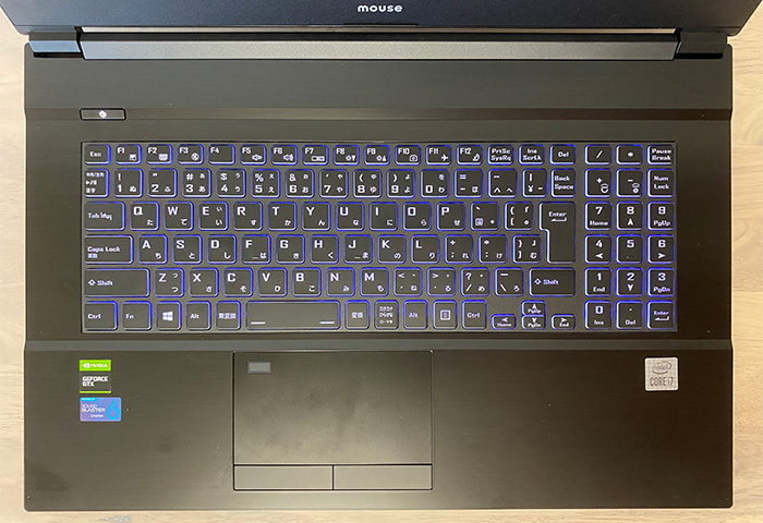 mouse K7のキーボード