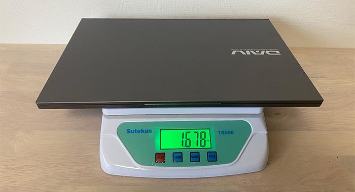 DAIV 5Pの本体重量