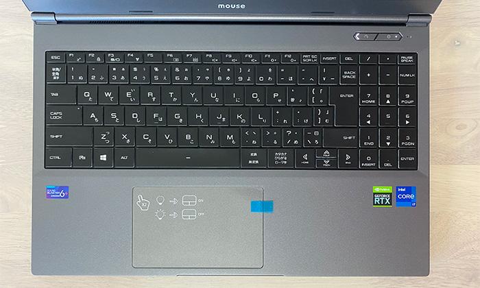 DAIV 5Pのキーボード